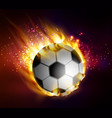 football with flames vector image