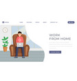 freelance outsource job landing page template vector image vector image