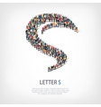 group people shape letter S vector image vector image
