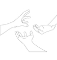 hand set 3 vector image vector image
