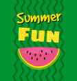hello summer watermelon card design vector image