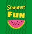 hello summer watermelon card design vector image vector image