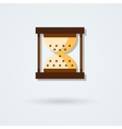hourglass icon Time pictogram vector image vector image