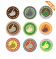 Label stitch sticker tag - - EPS10 vector image vector image