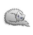 Light Grey Fluffy Cat vector image vector image