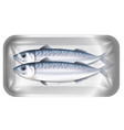 mackerel in the package vector image vector image