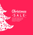 merry christmas sale background in minimalistic vector image vector image