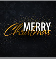 merry christmas typographical on dark background vector image vector image