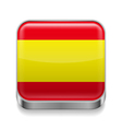 Metal icon of Spain vector image vector image