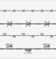 metal seamless barbed wire vector image vector image
