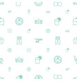 modern icons pattern seamless white background vector image vector image