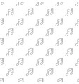music note pattern seamless vector image vector image