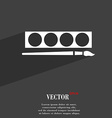Paint brush with palette symbol Flat modern web vector image