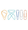 paper clips of various sapes vector image
