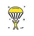 parachute icon design vector image vector image