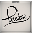 Paradise greetings hand lettering set vector image vector image