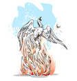 phoenix is a symbol of revival vector image vector image