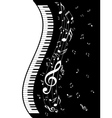 Piano Keyboard with Music Notes2 vector image vector image