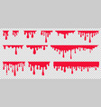 red dripping paint looking like drip blood vector image