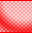 red geometrical halftone dot pattern background vector image vector image