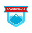 scandinavian rocks on emblem vector image vector image