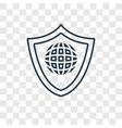 security concept linear icon isolated on vector image