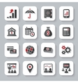 set flat modern business web icons vector image vector image