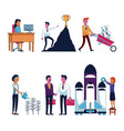 set of business people icons vector image vector image