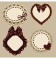 Set of elegant templates frame design vector image vector image