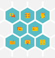 set website icons flat style symbols with photo vector image vector image