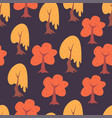 simple trees seamless pattern vector image vector image