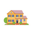 small guest house icon isolated on white backdrop vector image vector image