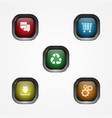 square button icon vector image