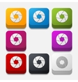 square button photo vector image