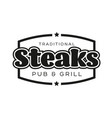 steaks vintage stamp black logo vector image