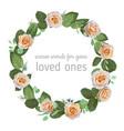 Stylish wreath round frame from creamy rose
