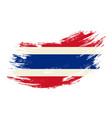 thai flag grunge brush background vector image