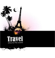 Travel design element vector image