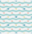 tropical fish in ocean simple seamless vector image vector image
