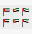 united arab emirates flag icons set national flag vector image vector image