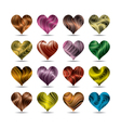 valentines day heart symbol set vector image vector image