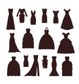 wedding bride dress elegance silhouette style vector image vector image