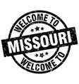 welcome to missouri black stamp vector image vector image