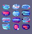 winter sale best offer vector image vector image