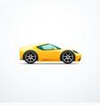 yellow cartoon sport car vector image vector image