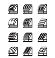 Modern building materials for roofs vector image