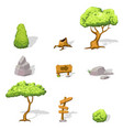 natural game design elements set vector image