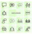 14 discussion icons vector image vector image