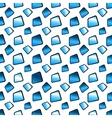 Abstract blue background with texture tiles vector image vector image