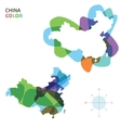 Abstract color map of China vector image vector image